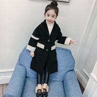 女童毛呢外套2017新款韩版公主季加厚中大童洋气中长款呢子大衣