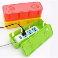 散热电源线插座收纳盒集线盒电线整理盒散热盒精致彩盒颜色随机插排插线板收纳盒理线充电线整理盒