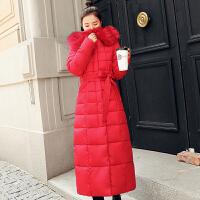 羽绒女中长款2018冬装新款韩版时尚修身过膝加厚棉衣冬季外套