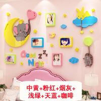 宝宝卧室卡通照片墙贴亚克力房间装饰墙面贴画幼儿园墙壁贴纸 2500象照片墙-图片色