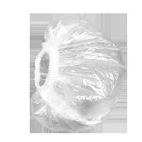 一次性浴帽女防水洗澡儿童沐浴帽防油烟帽子厨房防油加厚女款头套 白色 5包*100只