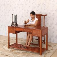 包邮简迪红木利来国际ag手机版新中式红木书桌实木办公桌子书房家用花梨木写字台现代简约电脑桌电脑椅