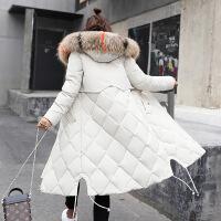 反季棉衣女中长款大毛领寒外套2018冬新款大码羽绒加厚