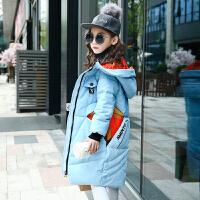 童装女童棉衣2017新款韩版儿童装中长款羽绒中大童棉袄外套