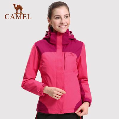 camel骆驼户外情侣冲锋衣 防风防水保暖三合一冲锋衣