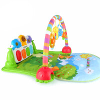 春天宝宝丛林健身琴 婴幼儿健身架含音乐早教益智玩具*物