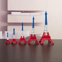 法国巴黎三色埃菲尔铁塔模型 办公室摆件创意工艺装饰品