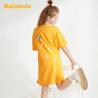 【抢购价:59】巴拉巴拉童装女童连衣裙儿童公主裙夏装短袖长t韩版洋气