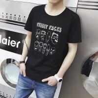 夏季短袖t恤男打底衫韩版半袖衣服上衣圆领宽松男士体恤