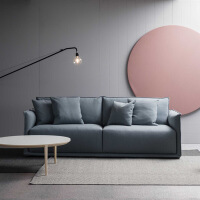 北欧布艺沙发客厅整装小户型三人简约现代客厅欧式布艺沙发乳胶整装沙发