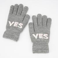 时尚毛线手套女冬季韩版加绒加厚保暖学生针织手套户外骑行车防寒冬天