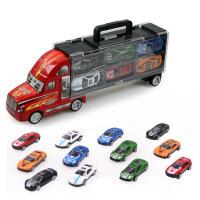 货柜车运输卡车合金小轿车集装箱模型套装儿童玩具汽车 套装