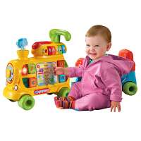 vtech伟易达多功能学习火车 儿童益智玩具踏行学步车三合