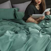 【官方旗舰店】100支全棉四件套 贡缎长绒棉婚庆纯色纯棉双人被套床单床上用品