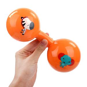 【当当自营】Fisher Price 费雪 新生儿哑铃球宝宝玩具手抓球婴儿球手柄球健身球锻炼手臂F0901黄色