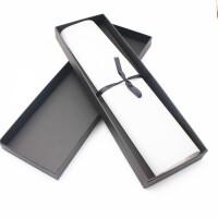 领带收纳盒商务会议黑色领带盒子 定制领带礼品盒 丝巾手帕包装盒收纳盒 黑色 长方形