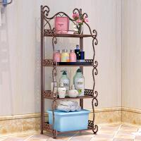【家装节 夏季狂欢】铁艺浴室置物架 落地卫生间脸盆架 洗手间厨房收纳储物层架