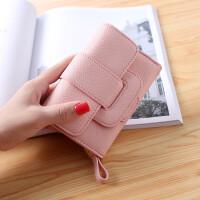 ?女士钱包短款多功能折叠大容量三折小清新拉链韩版学生零钱包钱夹?