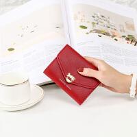 钱包女短款韩学生简约多功能迷你小钱包钱包硬币包包