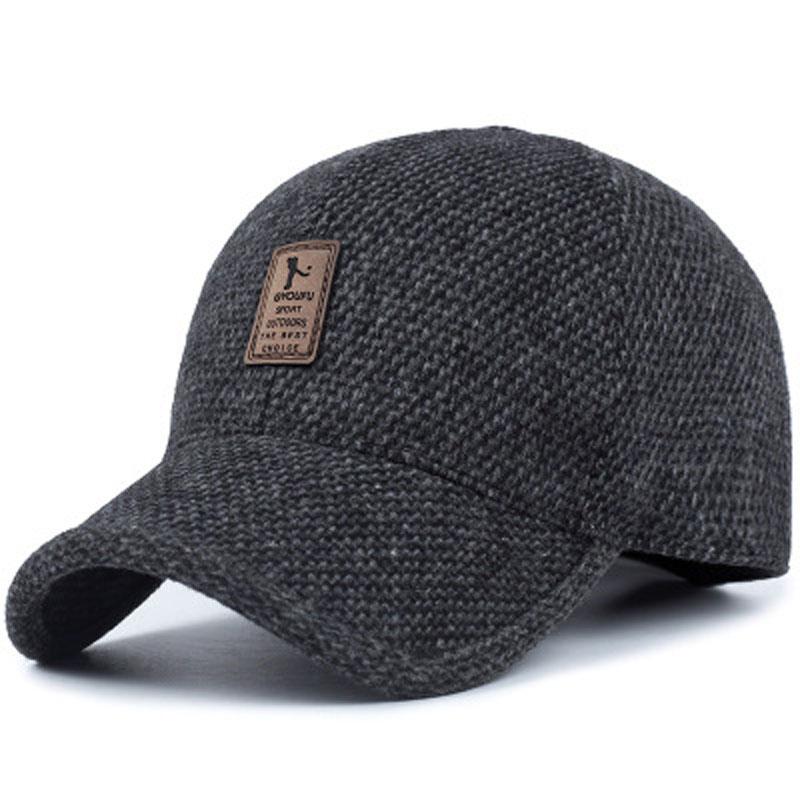 男士帽子冬季男冬天秋季保暖毛呢棒球帽中年中老年爸爸休闲鸭舌帽
