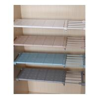 衣柜隔层架厨房置物置物架分类层架隔板房间横板浴室支撑家用一字 白色 长48-75cm 宽10cm