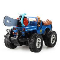 熊出没儿童遥控车光头强森林越野车充电皮卡货车奇特滑板车玩具车翻滚特技车