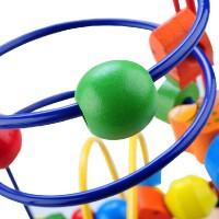 宝宝玩具1-3岁 大号木制玩具绕珠串珠 宝宝早教益智玩具