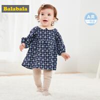 巴拉巴拉公主裙儿童宝宝连衣裙女童裙子洋气2019新款婴儿格子裙潮