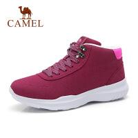 骆驼秋冬新款女鞋防滑厚底保暖加绒潮鞋轻便潮流中跟鞋子女