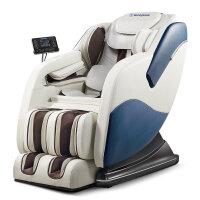 按摩椅 家用电全自动太空舱老人全身多功能揉捏沙发新款 白蓝色