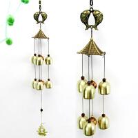 双层6铃铛风铃挂件风水化煞金属铜铃铛门铃创意门饰复古挂饰Q 六铃铛 双鱼