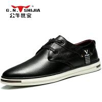 公牛世家男士商务休闲鞋时尚流行低帮鞋子888336