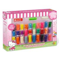 Hello Kitty无毒无味彩泥套装33色儿童3d玩具彩泥橡皮泥粘土套装