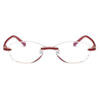 20180829494432018新品抗看书老花镜女切边无框老花光防护眼睛眼镜蓝光疲劳舒适老人眼镜