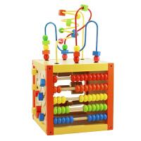 【当当自营】木玩世家 多功能智力盒 五合一儿童智力开发 早教益智木制玩具 YT2021