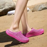 夏季男士拖鞋时尚韩版潮轻便情侣沙滩鞋凉鞋男女包头洞洞鞋凉拖鞋