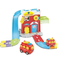神奇轨道消防局 汽车轨道升降机拼接益智说话唱歌早教玩具
