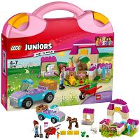 [当当自营]LEGO 乐高 Juniors小拼砌师系列 米娅的动物农场手提箱 积木拼插儿童益智玩具10746