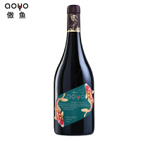 aoyo傲鱼智利原装原瓶进口红酒 西拉梅洛混酿干红葡萄酒750ml*1