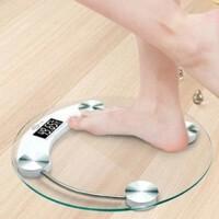 圆形33CM玻璃电子称电子体重秤精准家用健康称测人体仪减肥秤小型女器称重计