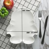 餐厅盘子菜盘陶瓷家用鱼盘白冷菜盘热菜盘创意菜盘不规则炒菜盘 黄色 10寸qq盘