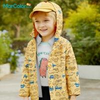 马卡乐童装2021春季新款男童三合一保暖两件连帽外套户外服冲锋衣