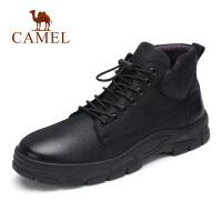 camel骆驼男鞋 秋冬新品潮流复古厚底休闲靴高帮运动风鞋子
