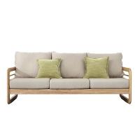 北欧白橡木沙发客厅单双三人位布艺实木沙发组合小户型现代简约 其他