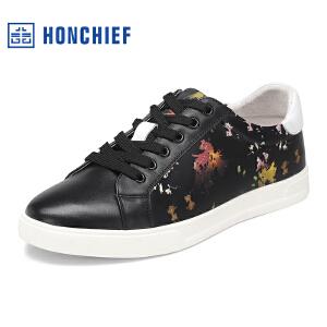 HONCHIEF 红蜻蜓旗下 春季新款休闲男鞋时尚男士板鞋潮流运动男鞋