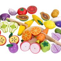 儿童水果蔬菜切切乐磁性木制仿真女孩男孩男宝宝切水果玩具套装