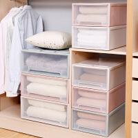 储物收纳盒整理箱衣物透明收纳柜塑料自由组合衣柜抽屉式收纳柜子 5L 透明白