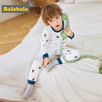 巴拉巴拉儿童内衣套装棉冬季新款秋衣秋裤男童睡衣弹力时尚男小童