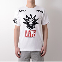 Aape香港潮牌自由女神像印花短袖体恤AAPTEM2576XX6白