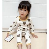女童内衣套装新款纯棉保暖家居服长袖女宝宝睡衣秋1-2-3-4岁